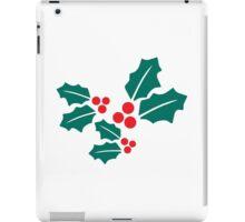 Xmas Holly Leaves iPad Case/Skin