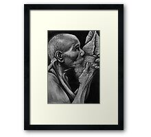 Conch Blower - Palau, Micronesia Framed Print