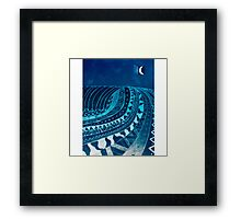 AZTECSURF NIGHT TUBE POSTER Framed Print