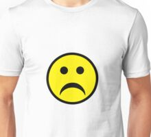 Sad Smiley Unisex T-Shirt