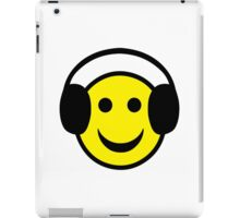 Headphones Smiley iPad Case/Skin