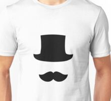 Top Hat and Moustahe Unisex T-Shirt
