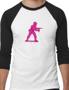 Toy Soldier [pink] Men's Baseball ¾ T-Shirt