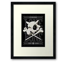 A Lone Bone Framed Print