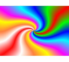 Rainbow Twist Photographic Print