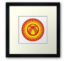 Kyrgyzstan Air Force - Roundel Framed Print