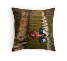 Blue-Billed Duck Throw Pillow
