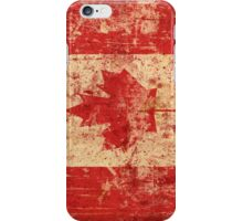 Canada grunge flag iPhone Case/Skin