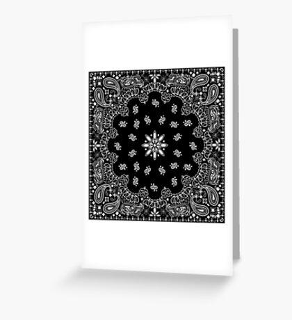 Black bandana Greeting Card