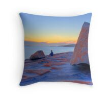 Between a rock and a hard place, at Remarkable Rocks Throw Pillow