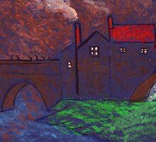 Elvet bridge Durham City by sword