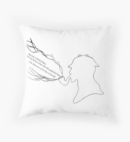 Sherlock - Becca Fletcher Throw Pillow