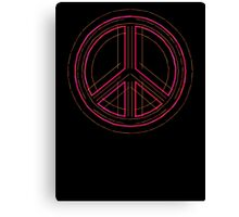 Peace Sign Symbol Abstract 3 Canvas Print
