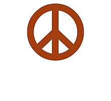 Brown Peace Sign Symbol Photographic Print