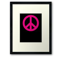 Magenta Peace Sign Symbol Framed Print