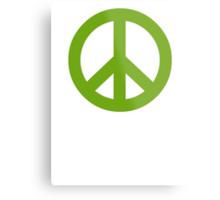 Green Peace Sign Symbol Metal Print