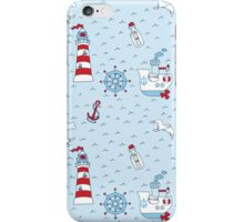 Nautical Sea Background iPhone Case/Skin