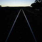 Nairne Train Tracks at Dusk by Michael Humphrys