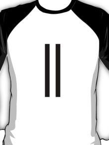 2 black racing stripes T-Shirt
