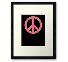 Pink Peace Sign Symbol Framed Print