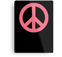 Pink Peace Sign Symbol Metal Print