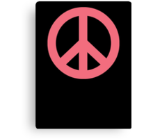 Pink Peace Sign Symbol Canvas Print