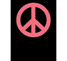Pink Peace Sign Symbol Photographic Print