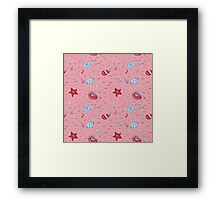 Nautical Sea Pattern Framed Print