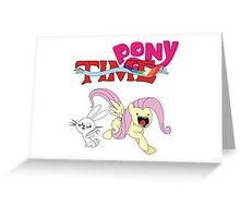 My Little Pony Adventure Time - Angel Bunny & Fluttershy Greeting Card