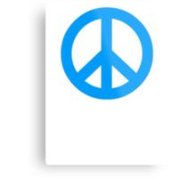 Blue Peace Sign Symbol Metal Print