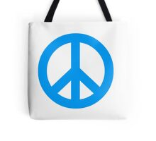 Blue Peace Sign Symbol Tote Bag