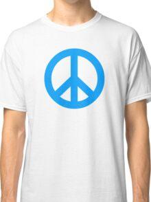 Blue Peace Sign Symbol Classic T-Shirt