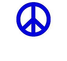 Dark Blue Peace Sign Symbol Photographic Print