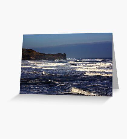 North Sea at Sandsend. Greeting Card