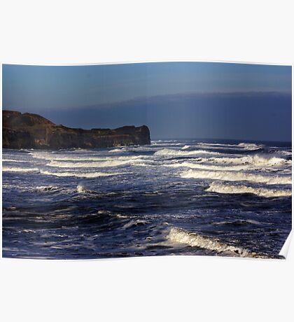 North Sea at Sandsend. Poster