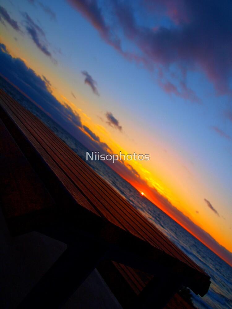 PICKNICK TABLE  SUNDOWN  by Niisophotos