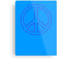 Peace Sign Symbol Abstract 4 Metal Print