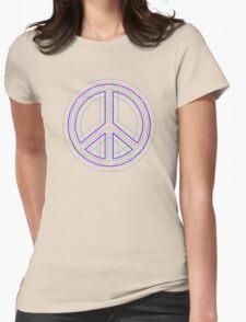 Peace Sign Symbol Abstract 4 Womens Fitted T-Shirt