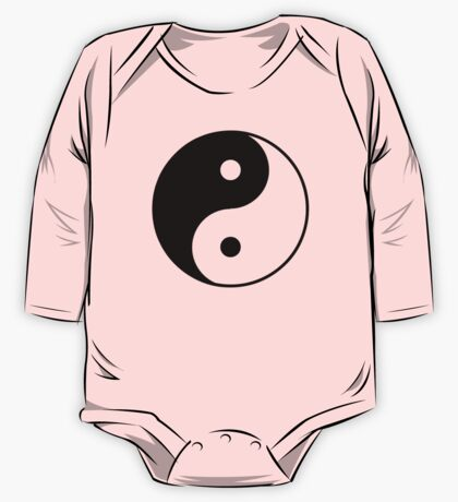 Asian Yin Yang Symbol One Piece - Long Sleeve