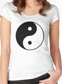 Asian Yin Yang Symbol Women's Fitted Scoop T-Shirt