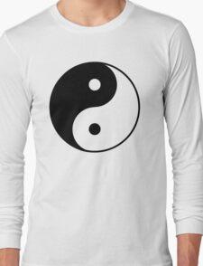 Asian Yin Yang Symbol Long Sleeve T-Shirt