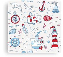 Nautical Sea Time Canvas Print