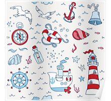 Nautical Sea Time Poster
