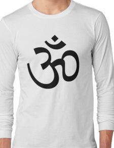 Indian Hindu Aum Om Symbol Long Sleeve T-Shirt