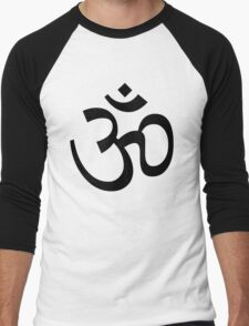 Indian Hindu Aum Om Symbol Men's Baseball ¾ T-Shirt
