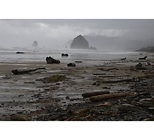 Hay Stack Rock, Canon Beach, Oregon Photographic Print