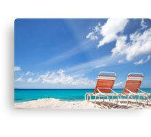 Lounging in Tropical Paradise Metal Print