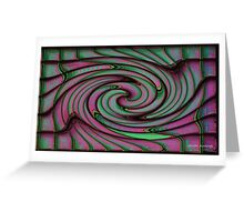 Green and Pink Swirl #1 Greeting Card