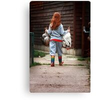 The Chicken Run Canvas Print