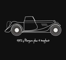 1952 Morgan Plus 4 drophead T-shirt design T-Shirt